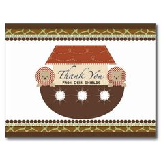Noah's Ark Flat Thank You Card Postcards today price drop and special promotion. Get The best buyShoppinglowest price Fast Shipping and save your money Now! Thank You Postcards, Thank You Cards, Noahs Ark Theme, Postcard Design, Fathers Day Cards, Save Your Money, Artwork Design, Postcard Size, Smudging