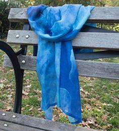 Modal botanical silk scarf   sarong  original art by LifeisBalance