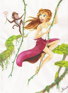 Disney Jane, Disney Xd, Disney Fan Art, Disney Movies, Disney Characters, Disney Princesses, Animation Film, Disney Animation, Monsters Inc Toys