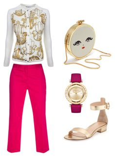 """""""Face print"""" by xxlove-fashionxx on Polyvore featuring Gianvito Rossi, Versace, Paul Smith and Michael Kors"""