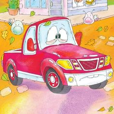 """'Uh-oh! The Little Lost Truck forgot his homework!'  From: """"The Little Lost Truck"""""""