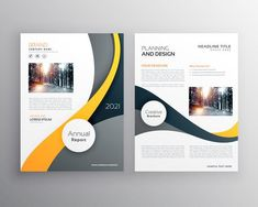stylish yellow gray business brochure poster leaflet vector desi Business Flyer Templates, Flyer Design Templates, Brochure Template, Business Leaflets, Birthday Flyer, Brochure Cover Design, Flyer Free, Leaflet Design, Flyer Layout