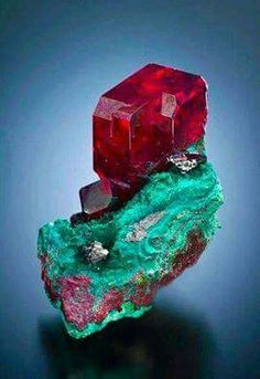 Deep red Cuprite from the South West Mine, Bisbee, Arizona.  Thanks Cochise Co, photo by Jeff Scovil.  Thank you for sharing Crystal Sun Academy!