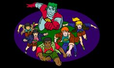 Captain Planet. He's a hero! He'll bring pollution down to zero... the Indian guy got screwed over by the other powers though. :'(