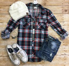Penny Plaid Flannel Top: Zip from privityboutique