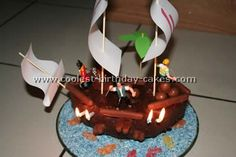 Take a look at the coolest homemade Pirate birthday cake ideas. You'll also find loads of homemade cake ideas and DIY birthday cake inspiration. Pirate Birthday Cake, Cool Birthday Cakes, Homemade Cakes, Birthday Candles, Desserts, Food, Tailgate Desserts, Deserts, Essen