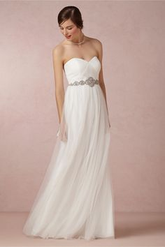 I am getting more into really simple and elegant dresses- would love this one minus the belt, with a delicate lace topper!