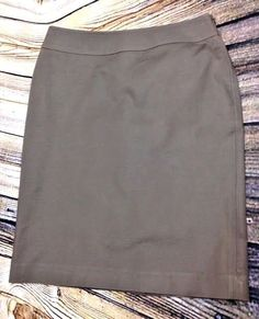Halogen Nordstrom Womens 2 Brown Pencil Skirt Cotton Stretch Career Knee Length #Halogen #StraightPencil #Career