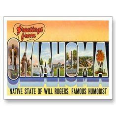 Greetings from Oklahoma OK Postcards from Zazzle.com