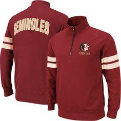 Florida State Seminoles (FSU) Flex Quarter Zip Fleece Pullover - Garnet
