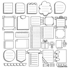 Bullet journal hand drawn vector elements for note. -Bullet journal hand drawn vector elements for note. -Bullet journal hand drawn vector elements for note. Bullet Journal Inspo, Bullet Journal Boxes, Bullet Journal Headers, Bullet Journal Notebook, Bullet Journal Aesthetic, Bullet Journal Ideas Pages, Bullet Journal Layout Templates, Bullet Journal Vectors, Borders Bullet Journal