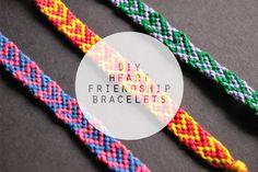 heart friendship bracelets #diy #friendshipbracelets