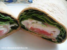 Healthy Greek Turkey Wrap