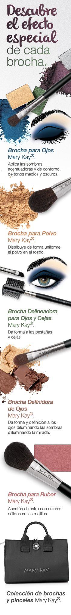 Ahora que sabes para qué sirve cada brocha, no volverás a sentirte perdida a la hora de maquillarte. Consigue todas las brochas con el estuche Mary Kay incluido en:  www.marykay.com.co