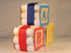 Diaper Blocks Mini Diaper Cake, ABC 3 block pack
