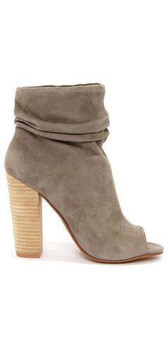 Peeptoe booties...perfect with skinny jeans for fall