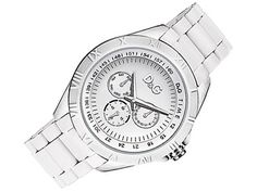 Wunderschöne weisse Uhr von D Vielleicht ein Weihnachtsgeschenk? Breitling, Michael Kors Watch, Watches, Black And White, Accessories, White Outfits, Monochrome, Clock, Gifts