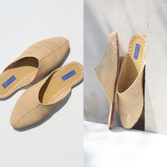 Definitely the most popular raffia style/color for SS16. Coming to some awesome shops in  and . We work with 8-16 ladies from a village outside Marrakech to weave the raffia. It takes 1 day to make 1 shoe. The raffia uppers then go to a small, family owned workshop where the soles are put on using locally sourced leather, additionally adding to local economy.