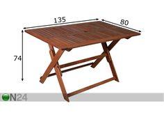 Kokoontaitettava puutarhapöytä MODENA EV-37849