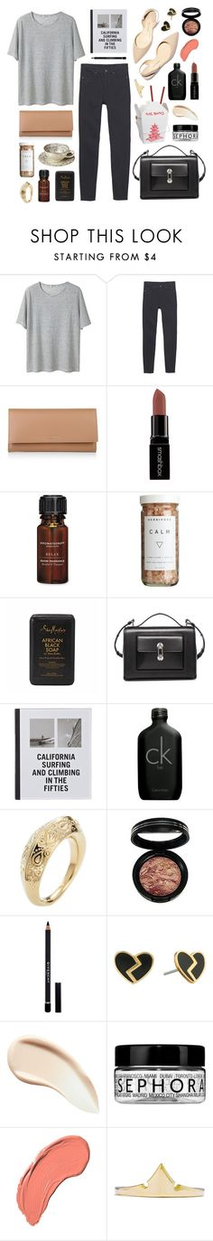 """California Take-out"" by sophiehackett ❤ liked on Polyvore featuring T By Alexander Wang, Monki, BOSS Hugo Boss, Smashbox, Aromatherapy Associates, CB2, SheaMoisture, Balenciaga, Patagonia and Paul Andrew"