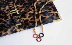 Honeycomb inspired necklace.