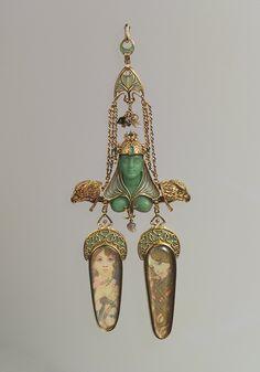 Brooch, ca. 1900  Manufacturer: Georges Fouquet (French, 1862–1957); Designer: Alphonse Mucha (Czech, 1860–1939)