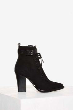 5bfaf89e8139 Nasty Gal Kerrigan Lace-Up Boot Slipper Boots