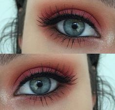 - Make Up - Maquillaje Makeup Eye Looks, Cute Makeup, Pretty Makeup, Skin Makeup, Eyeshadow Makeup, Makeup Emoji, Simple Makeup, Makeup Goals, Makeup Inspo