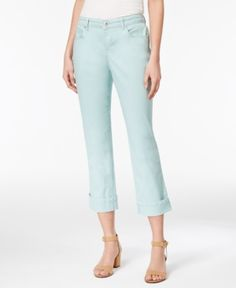 53be0230034 Style   Co Curvy Cuffed Capri Jeans in Regular   Petite Sizes