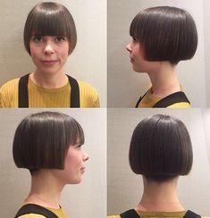 What About Bobbed? Short Bob Hairstyles, Pretty Hairstyles, Short Curly Hair, Curly Hair Styles, Clipper Cut, Best Bobs, Bob Haircut With Bangs, Hair Dye Colors, Bowl Cut