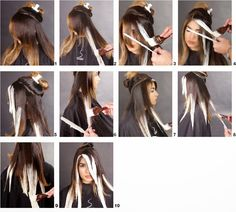 Técnica ombre balayage paso a paso Diy Ombre Hair, Ombre Hair Color, How To Ombre Your Hair, Balyage Long Hair, Balayage Hair, Bayalage, Hair Color Formulas, Hair Color Techniques, Hair Highlights