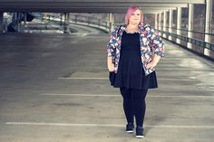 Plus Size Flower Cardigan by New Look