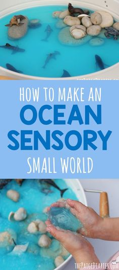 Ocean Sensory Small World – The Paige Diaries - Ocean Sensory Small World – The Paige Diaries - Toddler Sensory Bins, Sensory Games, Sensory Tubs, Sensory Rooms, Baby Sensory, Toddler Play, Sensory Play For Babies, Toddler Crafts, Childcare Activities