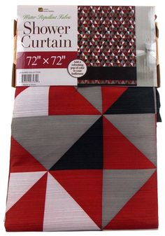 """Luxury Home Textiles Triangle Shower Curtain Water Repellent Fabric 72""""x 72"""""""