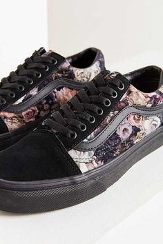 81b6f714c17 Por fin miooooos de los mejores regalos Vans Floral Velvet Old Skool  Sneaker Urban Fashion Women