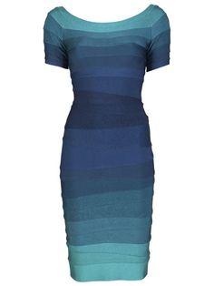 Hervé Léger Johanna Ombre Dress - - Farfetch.com