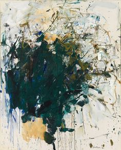 Untitled, 1960. Oil on canvas, 63 3/4 x 51 1/8 inches (161.9 x 129.9 cm). Collection of the Joan Mitchell Foundation, New York.    © Estate of Joan Mitchell
