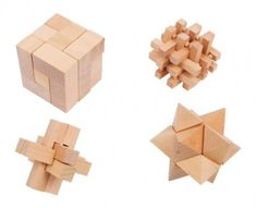 These wooden games of skill challenges both old and young hands and really get the heads brooding. The various shapes made of natural wood must be put back together in their original form after being deconstructed. Woody Games, Parlor Games, Toy Craft, Dexter, Wooden Toys, Natural Wood, Montessori, Place Card Holders, Shapes