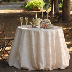 Billie's Roses in Ivory by Napa Valley Linens