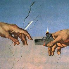 Creation Of Adam - Michelangelo Michelangelo, Images Esthétiques, Arte Pop, Trippy, Oeuvre D'art, Collage Art, Aesthetic Wallpapers, Art Inspo, Psychedelic
