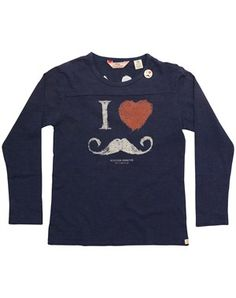 i love moustace printed t-shirt Scotch Shrunk 74230ced3