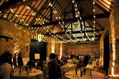 Festoon lighting canopy as an alternative to fairy lights, Monks' Barn Hurley