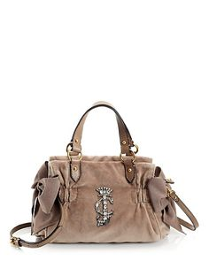 Juicy Couture- High Drama Velour Miss DayDreamer Bag