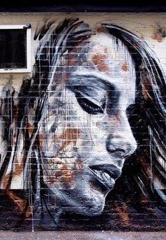 ~Graffiti~ Beyond Banksy Project / David Walker Urban Street Art, 3d Street Art, Street Art Graffiti, Street Artists, Graffiti Drawing, Murals Street Art, Mural Art, Wall Murals, Airbrush Art