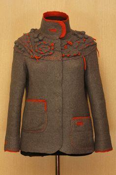 Basic Accent / Felted Clothing / Jacket by LybaV on Etsy, $600.00