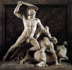 Teseo, Rey de Atenas, se ofrece como ofrenda al Minotauro de la isla de Creta, ya en Creta, Ariadna (hermana del Minotauro) se enamora de Teseo y le ofrece ayuda, a cambio de que la despose y se la lleve con el a Atenas, Teseo acepta, y con la ayuda de Ariadna y su ingenio, ingresa al laberinto del Minotauro y efectivamente le da muerte...