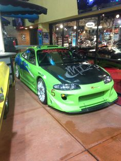 Paul walkers Mitsubishi eclipse fast and the furious!!!! At gatlinburgs stars cars!!!