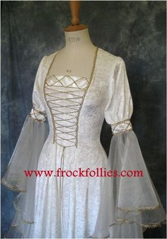 Renaissance Dress Medieval Dress Elvish Wedding by frockfollies
