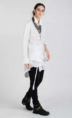 CAMENYA - Casual blouse with asymmetric bottom