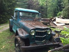 1961 Willys Pickup with Parts Vehicle for sale: photos, technical specifications, description Jeep Pickup Truck, Vintage Pickup Trucks, 4x4 Trucks, Trucks For Sale, Cool Trucks, Cars For Sale, Lifted Trucks, Abandoned Cars, Abandoned Vehicles